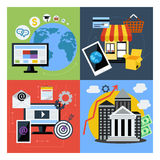 Set of concept icons for web business Royalty Free Stock Image