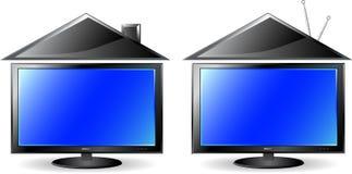 Set of concept modern tv Stock Photos