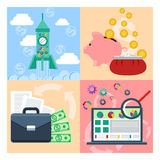 Set of concept for startup, analytics, finance Royalty Free Stock Photo