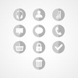 Set concept web icon Royalty Free Stock Image