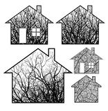 Ecological houses Royalty Free Stock Photography