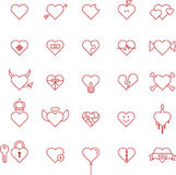 Set of conceptual hearts Stock Image