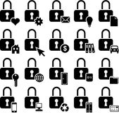 Conceptual padlock icons Royalty Free Stock Image