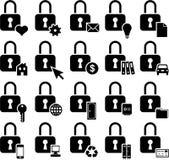 Conceptual padlock icons Royalty Free Stock Image