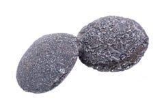 Set of concretion stones from southwest Kansas, USA. Kansas Pop Rocks isolated on white. Contains a male crystallized. Set of concretion stones from southwest stock photo