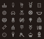 Set of confectionery icons Stock Photo