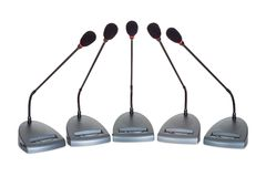 Set of conference microphones Royalty Free Stock Images