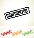Set of confidential stamp Royalty Free Stock Photo