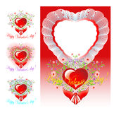 Set of congratulations Valentine's day Stock Image