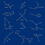 Set of constellations,  illustration  Royalty Free Stock Photo