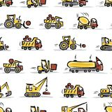 Set of construction equipment, seamless pattern Royalty Free Stock Photography