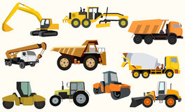 Set of construction equipment. Vector illustration Royalty Free Stock Images