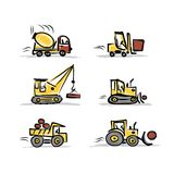 Set of construction equipment for your design Stock Image