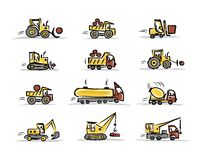 Set of construction equipment for your design Stock Photography