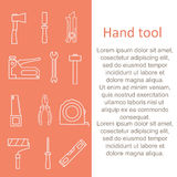 Set of construction hand tools. Instruments for building and repair. Stock Photography