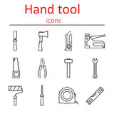 Set of construction hand tools. Instruments for building and repair. Royalty Free Stock Photos