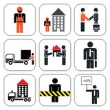 Set of construction icons Stock Photography