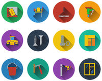 Set of construction icons Royalty Free Stock Photography