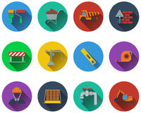 Set of construction icons Stock Image