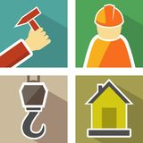 Set construction icons Royalty Free Stock Photography