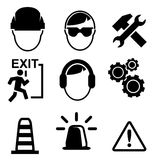 Set of construction icons isolated on white background,  Royalty Free Stock Photography