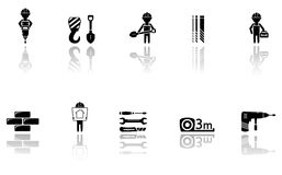 Set of construction icons with tools Royalty Free Stock Photography