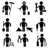 Set of construction icons, vector illustration royalty free illustration