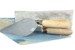 Set of construction lute trowels tool isolated Royalty Free Stock Images