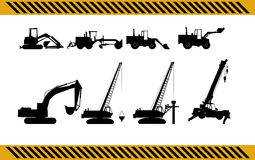 Set of construction machinery equipment Royalty Free Stock Image