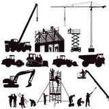 Set of construction machinery Stock Image