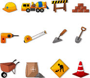 Set of construction object Royalty Free Stock Photos