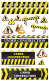 Set of construction sighs Royalty Free Stock Photo