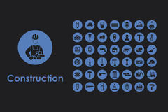 Set of construction simple icons Royalty Free Stock Image