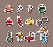 Set of construction stickers Royalty Free Stock Photos