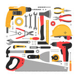 Set of construction tools Royalty Free Stock Photography