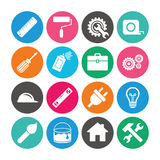 Set of Construction tools, Engineering and Repair. Royalty Free Stock Photography