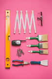 Set of construction tools Stock Images