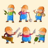Set of construction workers Royalty Free Stock Images