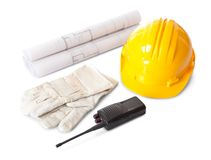 Set of constructions worker objects Royalty Free Stock Photos