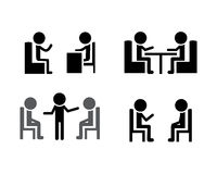 Set of Consulting icons, vector Royalty Free Stock Images