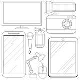 Set of consumer electronics Stock Image