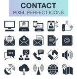 Set of contact and communication icons. Stock Photo