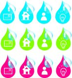 Set of contact icons Stock Images
