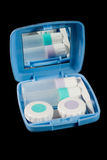 Set of contact lens cases Stock Photo