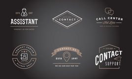 Set of Contact us Service Elements and Assistance Support can be used as Logo. Or Icon in premium quality Royalty Free Stock Photo
