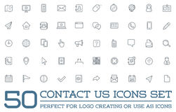 Set of Contact us Service Elements Royalty Free Stock Photography