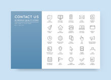 Set of Contact us Service Elements and Assistance Support can be. Used as Logo or Icon in premium quality Royalty Free Stock Images