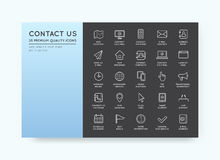 Set of Contact us Service Elements and Assistance Support can be Royalty Free Stock Photography