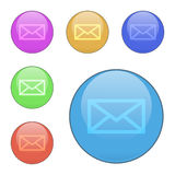 Set of contact us vector buttons. Stock Photography