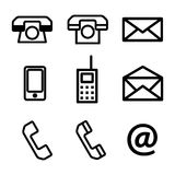 A set of contact us vector icons Royalty Free Stock Image